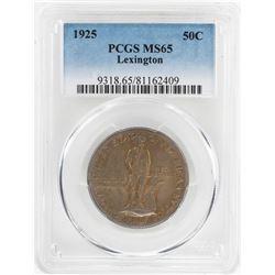 1925 Lexington Sesquicentennial Commemorative Half Dollar Coin PCGS MS65