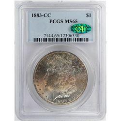 1883-CC $1 Morgan Silver Dollar Coin PCGS MS65 CAC Nice Toning