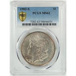 1902-S $1 Morgan Silver Dollar Coin PCGS MS62