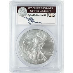 2012-W $1 American Silver Eagle Coin PCGS MS69 First Strike Mercanti Signature