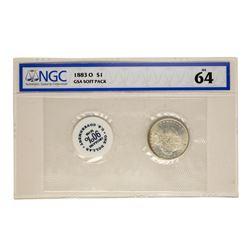 1883-O $1 Morgan Silver Dollar Coin GSA Soft pack NGC MS64