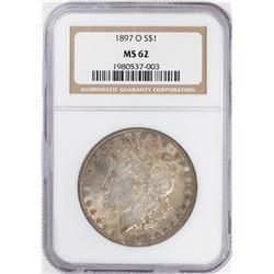 1897-O $1 Morgan Silver Dollar Coin NGC MS62
