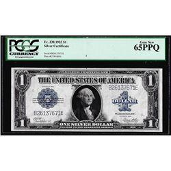 1923 $1 Silver Certificate Note Fr.238 PCGS Gem New 65PPQ