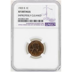 1923-S Lincoln Wheat Penny Coin NGC XF Details