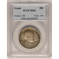 1922 Ulysses S. Grant Commemorative Half Dollar Coin PCGS MS64