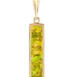 Genuine 2.25 ctw Peridot Necklace 14KT Yellow Gold - REF-36N9R