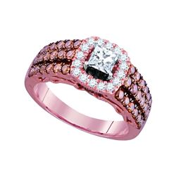 Diamond Solitaire Bridal Wedding Engagement Ring 1-1/2 Cttw 14kt Rose Gold
