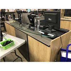 COMPLETE RETAIL DISPLAY SYSTEM INC. RECEPTION AREA, DISPLAY COUNTERS, WALL MOUNTED GLASS DISPLAY