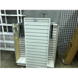 LOT OF 3 SLAT WALL RETAIL DISPLAY UNITS