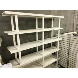 WHITE 7' 5 TIER DISPLAY RACK