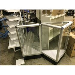 LOT OF 6 MISC. DISPLAY CABINETS