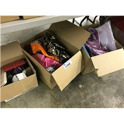 4 BOXES/BAGS OF ASSORTED HAND BAGS AND ACCESSORIES