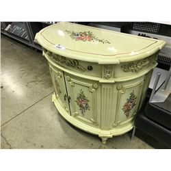 BEIGE FLORAL PATTERNED TRADITIONAL STYLE HALLWAY TABLE