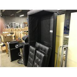 BLACK 3 SEAT SOFA