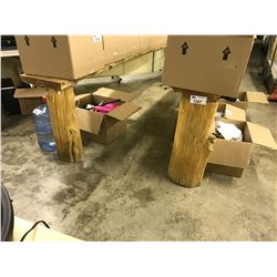 2 WOOD DISPLAY BENCHES