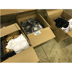 BOX LOT OF ASSORTED CELL PHONE SHOP INVENTORY INC. PHONE CASES, ELECTRONICS, ACCESSORIES AND MORE,