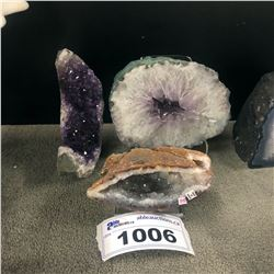 3 SMALL AMETHYST GEODES