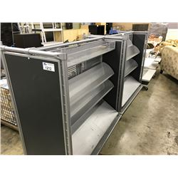 GREY 5' DOUBLE SIDED MOBILE DISPLAY RACK