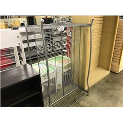 GREY 5' DOUBLE SIDED HANGING DISPLAY UNIT