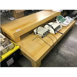 3 MAPLE 7' DISPLAY BENCHES