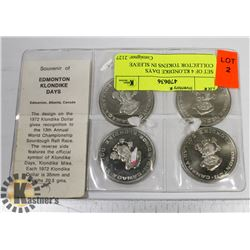 SET OF 4 KLONDIKE DAYS COLLECTOR TOKENS IN SLEEVE