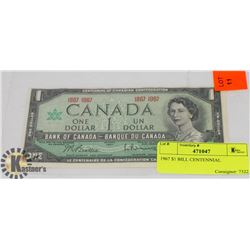 1967 $1 BILL CENTENNIAL