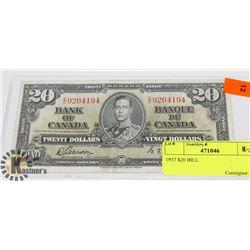 1937 $20 BILL