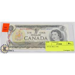 1973 $1 BILL UNC