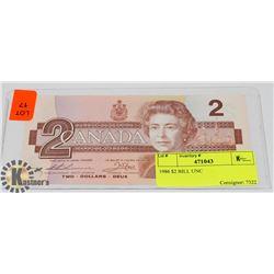 1986 $2 BILL UNC