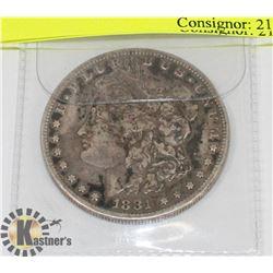 U.S. 1881 SILVER MORGAN $1 COIN