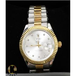 MEN'S ROLEX OYSTER PERPETUAL DATEJUST GOLD &