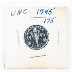 1945 CANADA 5 Cents UNC (SIE)
