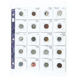 Lot (20) World Coins 2x2 Sheet