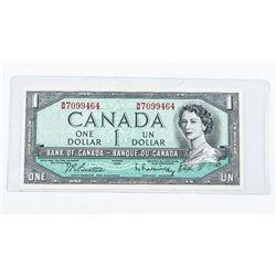 Bank of Canada 1954 1.00 Modified Portrait B/R UNC