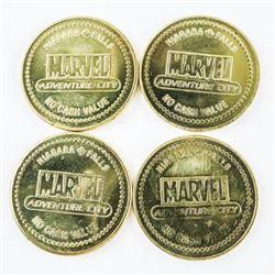 Lot (4) Marvel Tokens.