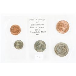 First Coinage of Sierra Leone 1964 Mint Set