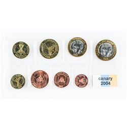 Canary 2004 UNC Coins