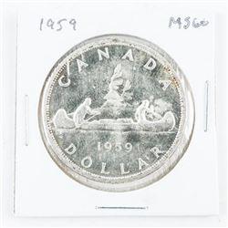 1959 Canada Silver Dollar MS60