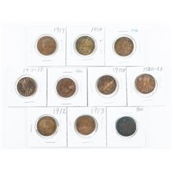Group of (10) World Coins, Identified with Silver