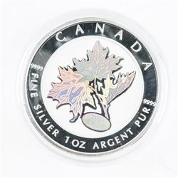 2003 .9999 Fine Silver Maple Leaf Hologram 5.00 Co
