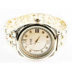 Ladies Quartz Watch Panther Link Band with Swarovs