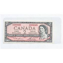 Bank of Canada 1954 2.00 Modified Portrait (VG) L/