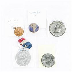 Estate Lot - Coins, Pins, Pendants, Etc.