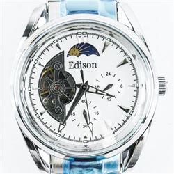 Gents Edison Designer Watch, Lunar Dial, Automatic