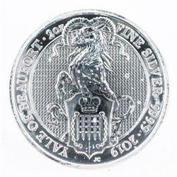 2019 - .9999 Fine Silver 2oz 5 Pounds Coins