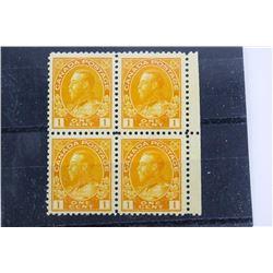 Estate Canada Stamp Block 4x1 cent Mint Canada N.H