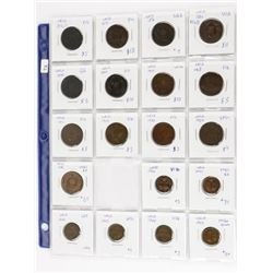 Estate Lot - 19 Coins NFLD Large and Small Cents (
