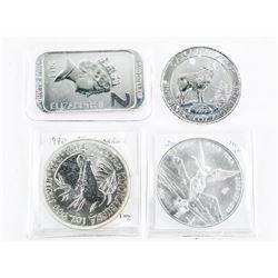 Group of (4) Collector Bullion, Coins, Bar etc
