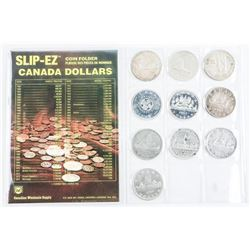 Collection of (10) Canada Silver Dollars - Include