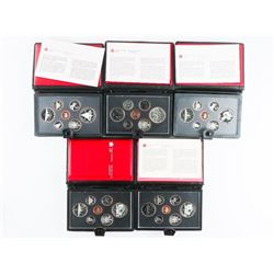 Group (5) RCM Proof Coin Sets: 1980-1981-1982-1983